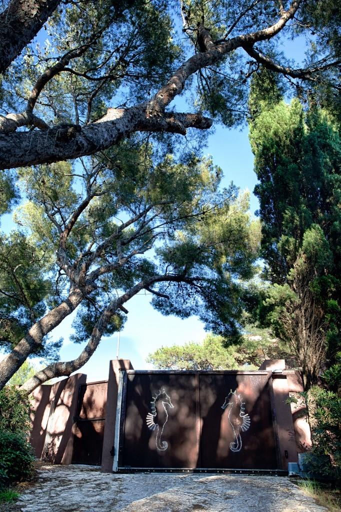 Sortie portail villa hippocampe